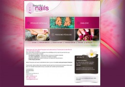 Création site internet Beautiful Nails : http://www.beautifulnailsmarie.be/